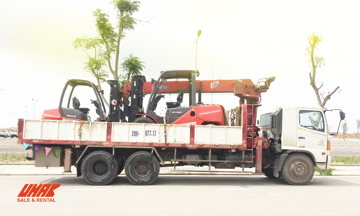 3 tons to 5 tons forklifts for rent at cheap price